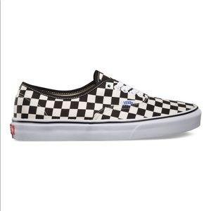 Vans Authentic Golden Coast Checkerboard Sneakers
